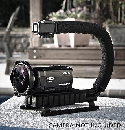 Pro Video Stabilizing Handle Grip for Casio QV-2100 Vertical Shoe Mount Stabilizer Handle