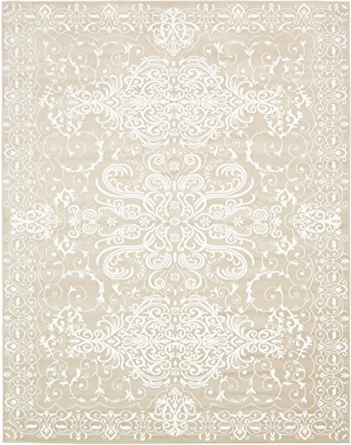 Modern Vintage Inspired Area Rugs Snow White 10' x 13' FT Himalaya Collection Rug - rugs for living room - rugs for dining room & bedroom - Floor Carpet