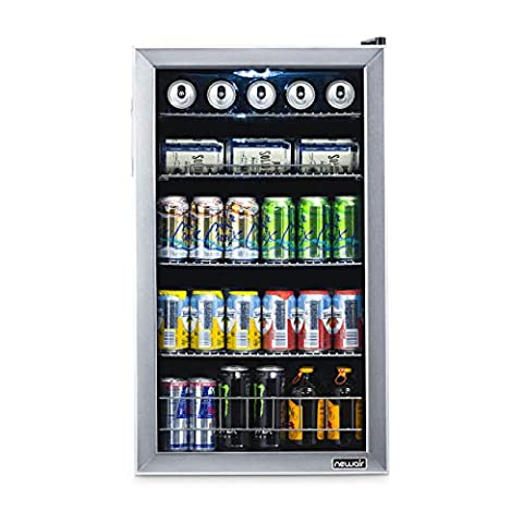 NewAir Beverage Refrigerator Cooler with 126 Can Capacity – Mini Bar Beer Fridge with Right Hinge Glass Door – Cools to…