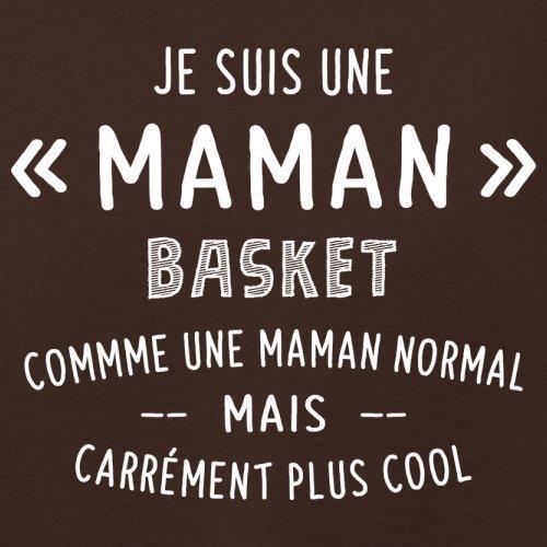une maman normal basket - Femme T-Shirt - Maron Foncé - S