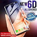 Own Shop™ Note 8 Tempered Glass Screen Protector / Full Body Tempered Glass for Samsung Galaxy Note 8 with Free Installation Kit [BLACK COLOR]