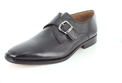 Florsheim Men's Sabato Plain Toe Monk Ebony Printed 7.5 D