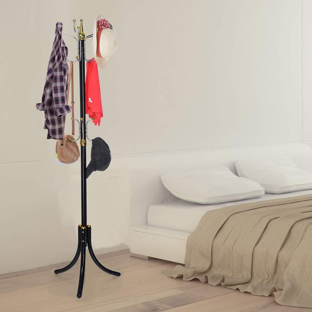Metal Bedroom Living Room Three-Legged Clothes Rack Hanging Clothes Bag Hat