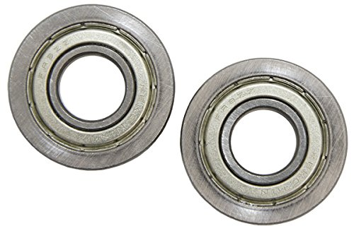 .500 inch ID x 1.125 inch OD Flanged Ball Bearing (Stainless Steel) 2 pack ServoCity 535049