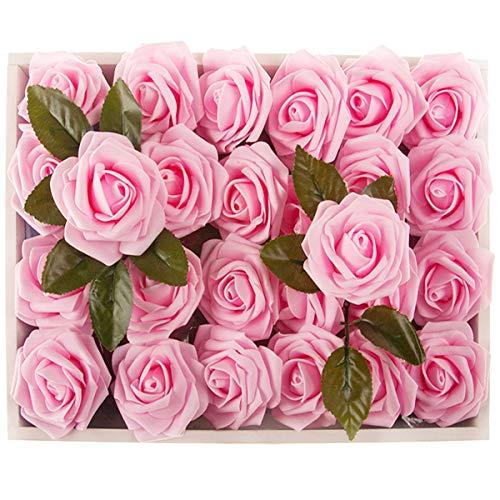 Flower Centerpieces For Baby Shower - M&A Decor Artificial Roses 30 PCS