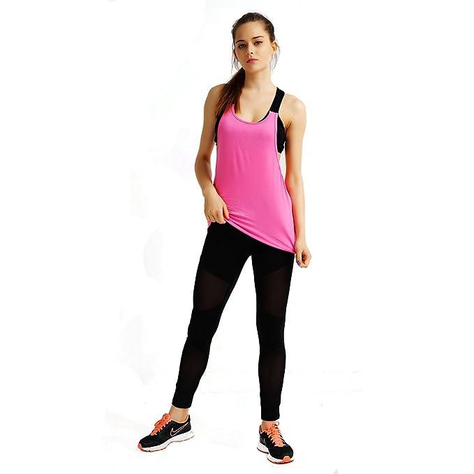 SOTW - Camiseta sexy para hacer yoga para mujer, Mujer ...