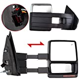ECCPP Towing Mirrors For 2007-2014 Ford F150 Chrome Power Heated LED Turn Signal Puddle Lamp Cap Pickup Mirrors