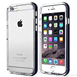Swees® iPhone 6 (4.7) Case Bumper **NEW** [Jelly Series] with Clear Back Panel - Shock Absorbent TPU Hybrid Bumper Protection iPhone 6 (4.7 inch) (2014) Case Cover (Pebble Blue/Clear)
