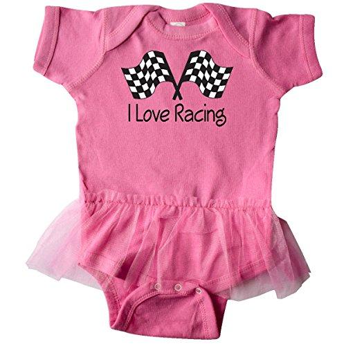inktastic - I Love Racing Infant Tutu Bodysuit 6 Months Raspberry 6520