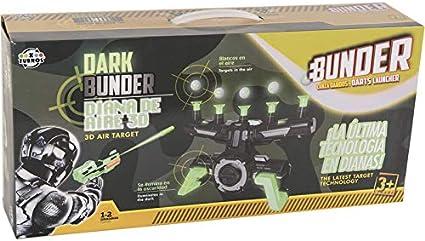 XTURNOS Lanzadardos Bunder con Diana de Aire 3D: Amazon.es: Juguetes y juegos