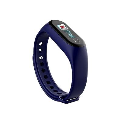 JiaMeng Reloj Elegante de la Pulsera del podómetro del perseguidor de la Actividad de la Aptitud de la Venda de la Banda de M3 Smart(Azul): Amazon.es: Ropa ...