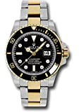 Rolex Oyster Perpetual 40MM Stainless Steel & 18K Yellow Gold Submariner Date With A Black Rotatable Cerarchrom Bezel And A Black Dial With Diamond Hour Markers.