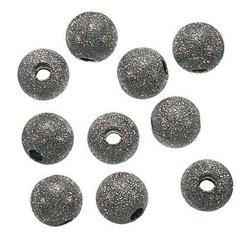 Stardust Sparkle Round Beads, 10mm, Gunmetal Plated