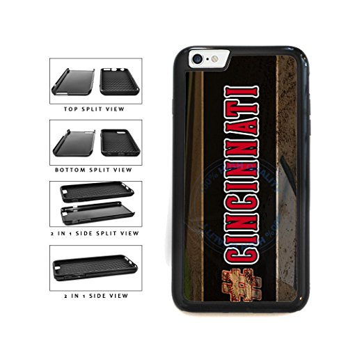 BleuReign(TM) Hashtag Cincinnati #Cincinnati Baseball Team 2-Piece Dual Layer Phone Case Back Cover For Apple iPhone 6 Plus and iPhone 6s Plus (5.5 Inches Screen)