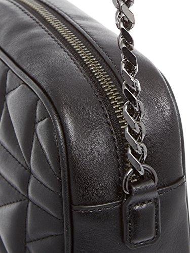 Bolso Al De Para Mujer Hombro Lagerfeld Karl Piel Negro aqwxC47W5n