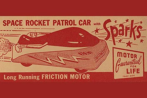 (Buyenlarge 0-587-25088-7-C2030 Space Rocket Patrol Car Gallery Wrapped Canvas Print, 20