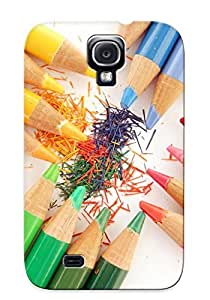 New Diy Design Multicolored Pencils For Galaxy S4 Cases Comfortable For Lovers And Friends For Christmas Gifts