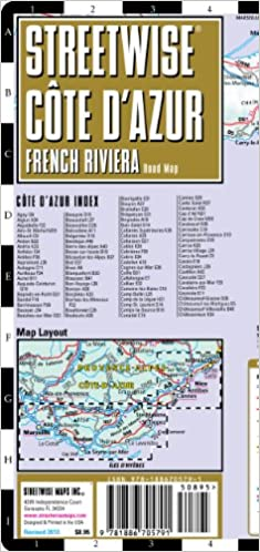 Streetwise French Riviera Map Laminated Road Map of the French