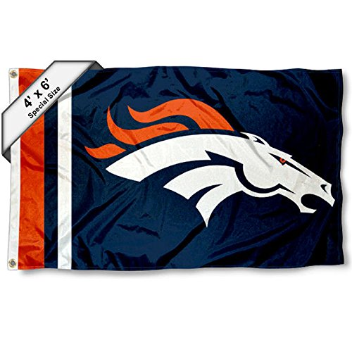 Denver Broncos 4' x 6' Foot Flag by WinCraft