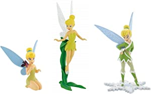 Disney Peter Pan Fairies Fairy Birthday Party Cake Toppers Featuring Tinker Bell with Blaze, Tinkerbell Flying and Sitting
