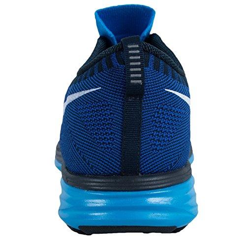 Nike Mens Flyknit Lunar2 Levendig Blauw / Wit-spel Royal-dark Obsidiaan 620465-414 Schoen