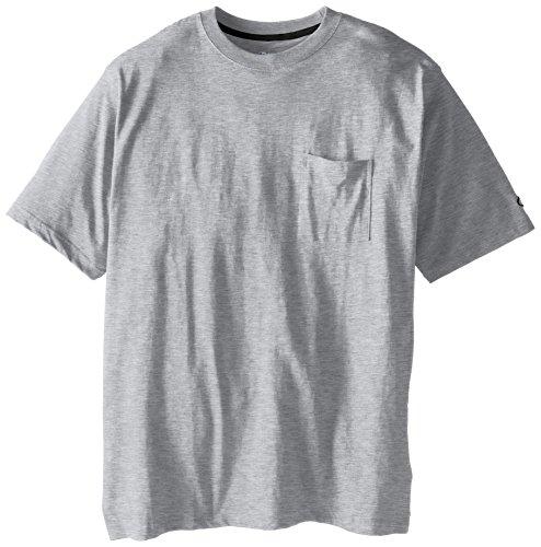 (Champion Men's Big-Tall Jersey Pocket T-Shirt, Grey Heather, 2X)