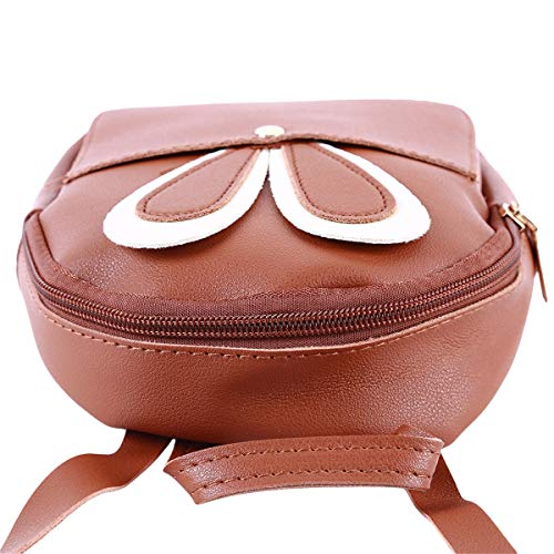 Style Portefeuille À Mignon Sacs Oreilles Winwinfly Femmes De Cuir Pu monnaie Mini Bandoulière Porte Lapin Marron Zipper nqInHP