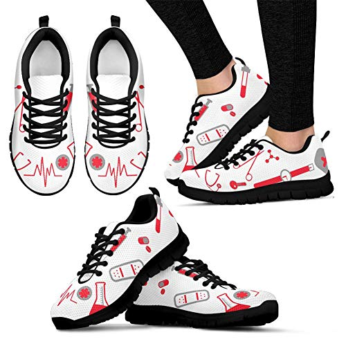 Lightweight Walking Tennis Heartbeat 2 Sneakers Coloranimal Womens Air Running Flats Nurse Mesh Footwear qPIETxO8