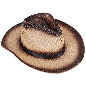 Livingston Men & Women's Woven Straw Cowboy Hat w/Hat Band