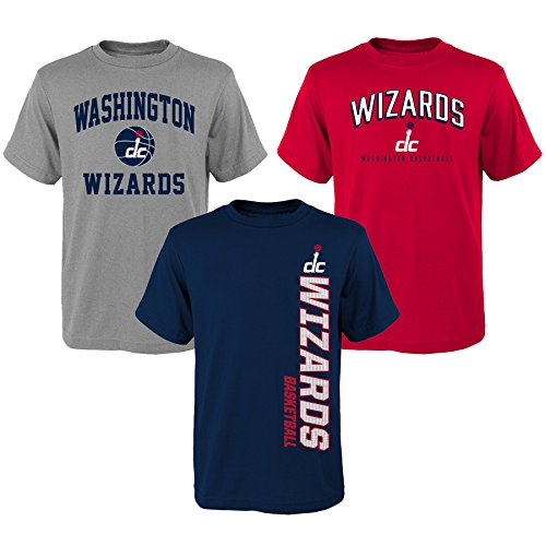 NBA Youth Boys 8-20 Wizards 3Piece Tee Set, L(14-16), Assorted