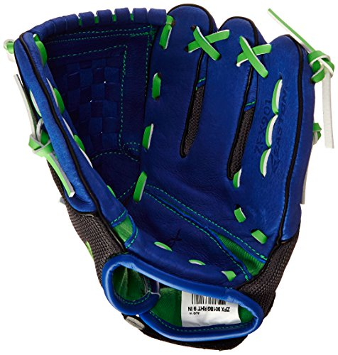 Easton Youth Z-Flex ZFX 901 Ball Glove (9-Inch), Blue/Green, Right Hand Throw