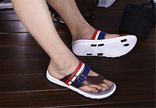 Sandali Infradito Uomo Sandalo Infradito Bininbox Open Toe Pantofole Striscia Marrone