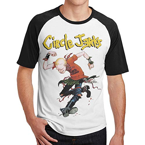 Tee Mens Circle - C12QnQvgidgxfR Circle Jerks Men Round Neck Raglan Tee Shirt XL Black