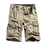 Men's Cotton Casual Loose Fit Cargo Shorts