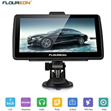 [Patrocinado] FLOUREON GPS Navigator 7.0 inch GPS Navigation System with Lifetime US/Canada/Mexico Maps Spoken Turn-By-Turn Directions Direct Access Driver Alerts For Car Vehicle Truck Taxi (Blue)