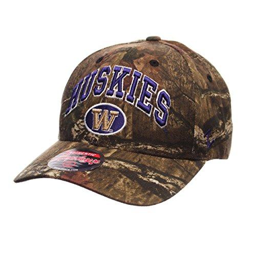 Washington Huskies Camouflage Relaxed Fit Snapback Cap - NCAA Camo, One Size Adjustable Baseball (Huskies One Fit Cap)
