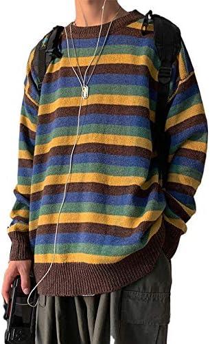JDJRセーター メンズ 冬服 厚手 ニットセーター おしゃれ 無地 丸首 ストリート アウトドア 刺繍 ゆったり 防寒 カジュアル セーター 001