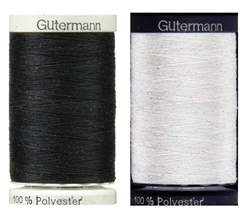 Sew-All, All PurposeThread 547 Yards- 1 Black and 1 White GUTERMANN Thread by Gutermann