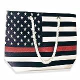 Beach Bag - Thin Red Line American Flag