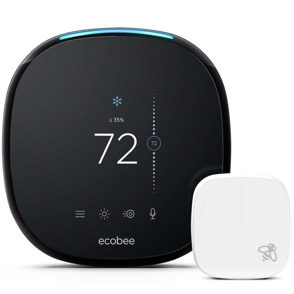 ecobee4 Smart Thermostat with Built-In Alexa, Room Sensor Included by ecobee
