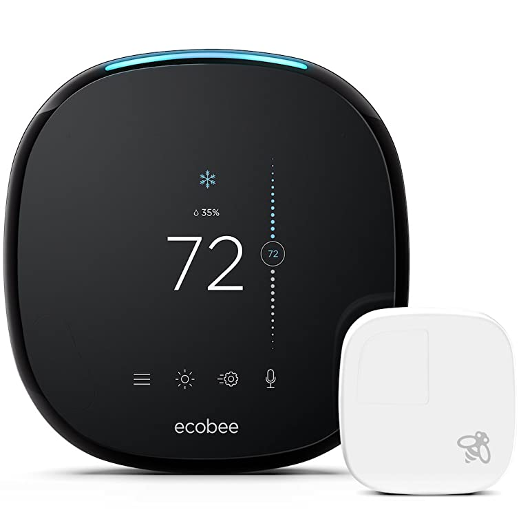 Image of ecobee4 Alexa-Enabled Thermostat with Sensor