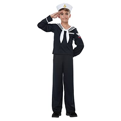 Kids Navy Sailor Uniform Halloween Costume: Toys & Games