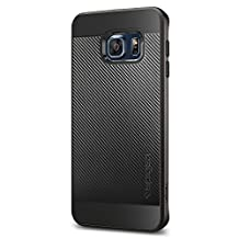Spigen Neo Hybrid Carbon Galaxy S6 Edge Plus Case with Carbon Fiber Design and Reinforced Hard Bumper Frame for Samsung Galaxy S6 Edge Plus 2015 - Gunmetal