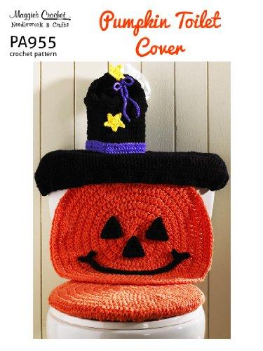 Crochet Pattern Pumpkin Toilet Cover PA955-R
