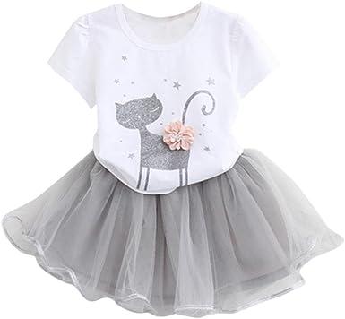 K-youth Vestido de niña, Vestido para Bebés Ropa Impresa de Camisa y del Vestido del Gato Muchacha Encantadora Ropa de Bebe niña Verano 2018: Amazon.es: Ropa y accesorios