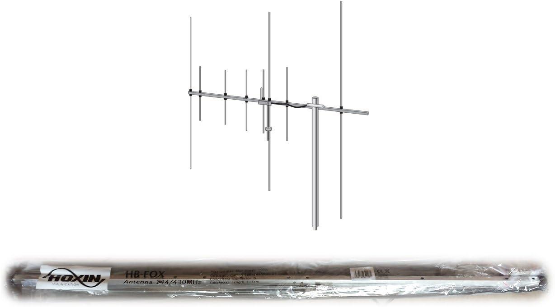 HB-FOX727 YAGI ANTENA BASE BIBANDA, 8 ELEMENTOS,, UHF/VHF 144 ...