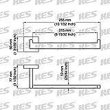 KES SUS304 Stainless Steel Towel Ring Wall