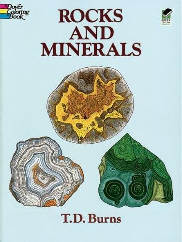 Rocks and Minerals Colouring Book Dover Nature Coloring Book: Amazon ...