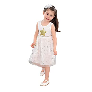 49d1acc9122c5e Euone® Dress Kids Girls Star Dresses Ball Gown Party Pageant Tulle Tutu  Dresses (1