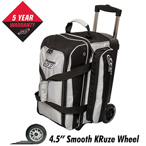 Columbia 300 Columbia Icon Double Roller Bowling Bag, Silver